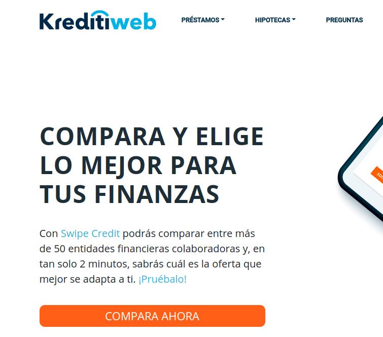 comparador de préstamos online Kreditiweb.