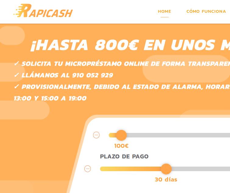 Préstamos online de Rapicash